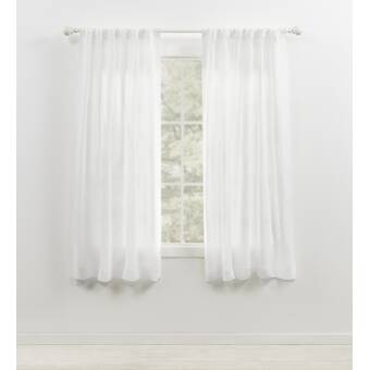 Shabby White /& Linen Floral Lace Window Curtains Panels Rod Pocket Wth Valance