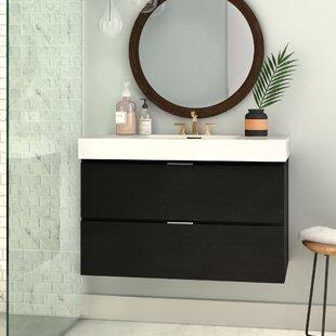 Top Reviews Tenafly 36 Single Wall Mount Bathroom Vanity Set ByWade Logan