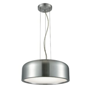 Orren Ellis Barksdale 1-Light LED Drum Pendant