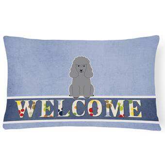 The Holiday Aisle Javan Poodle Cat 1 Cat Love Outdoor Rectangular Cushion With Filling Wayfair