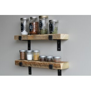Brennon Reclaimed Barn Accent Wall Shelf (Set of 2)