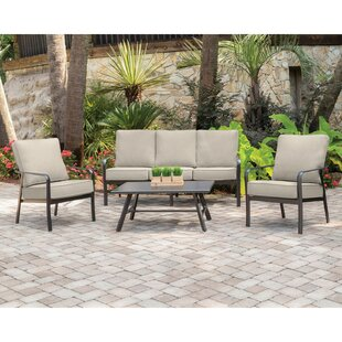 Colson 4 Piece Sofa Seating Group with Sunbrella Cushions by Gracie Oaks