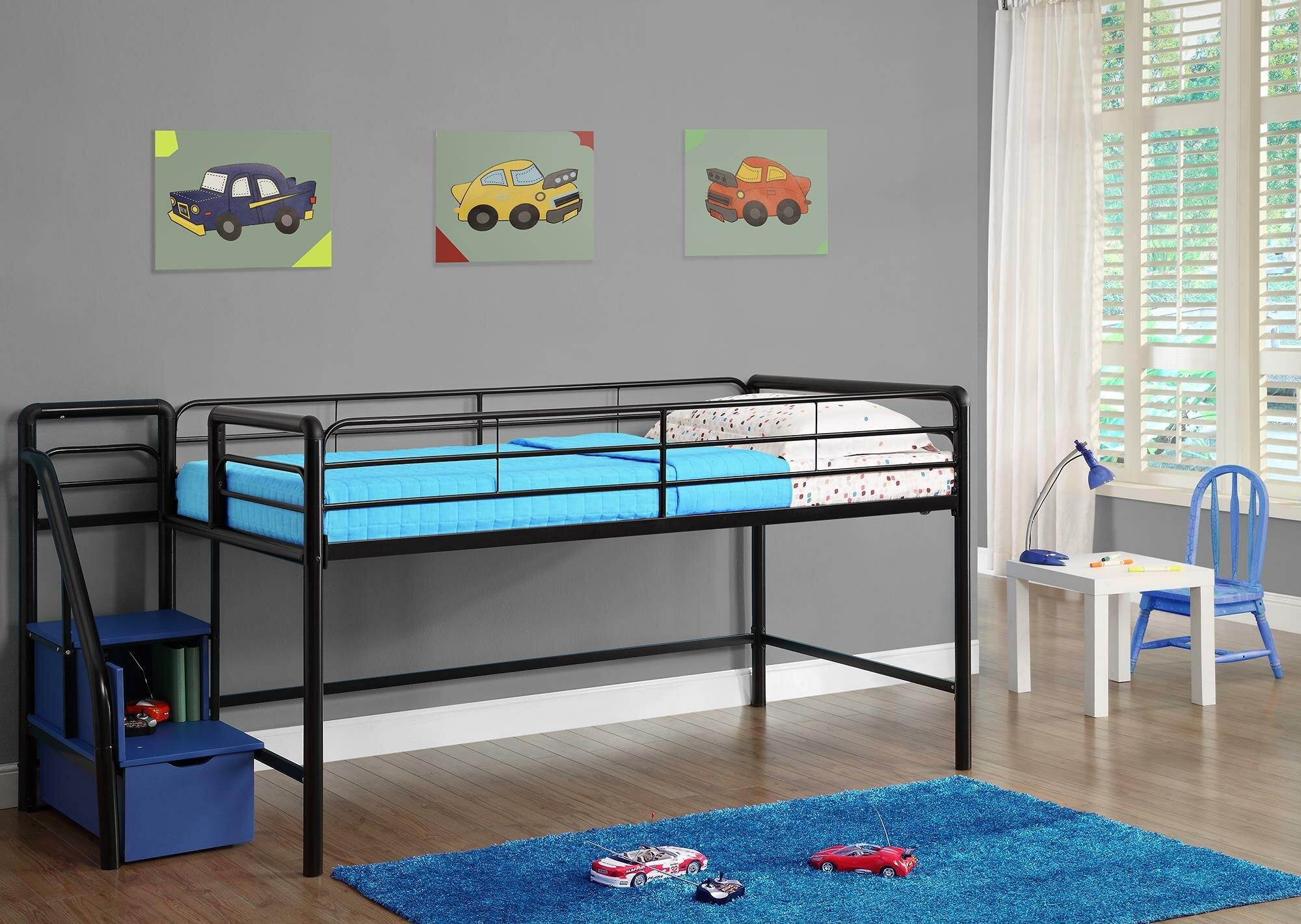 Zoomie Kids Bewley Junior Twin Low Loft Bed With Drawers Reviews