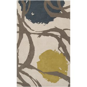 Rubie Hand Tufted Beige Wool Area Rug
