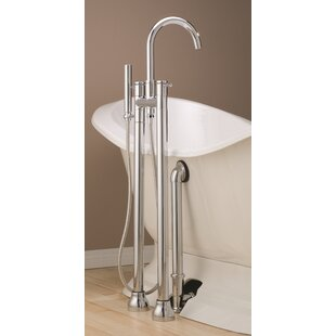 clawfoot tub plumbing fixtures. Double Handle Floor Mounted Clawfoot Tub Faucet with Hand Shower Freestanding Bathtub Faucets You ll Love
