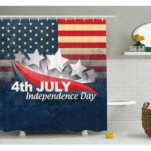 4th of July American Soldiers Standing With Us Flag War Save Country Hero Liberty Display Single Shower Curtain