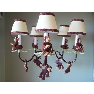 Silly Bear Lighting Monkey Business 5-Light Shaded Chandelier