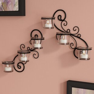 Decorative Wall 2 Piece Glass Sconce Set