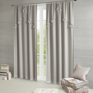 Barclay Solid Blackout Rod Pocket Single Curtain Panel by Grovelane Teen