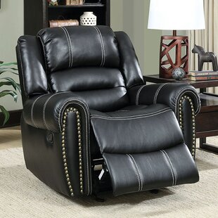 Aren Transitional Leather Manual Rocker Recliner Darby Home Co