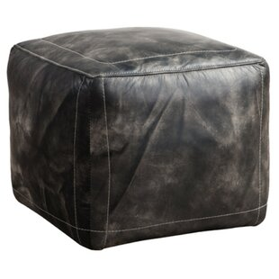 Rankin Leather Pouffe By Williston Forge
