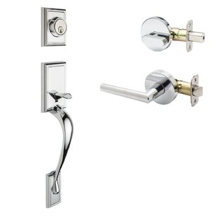 Fashion Single Cylinder Handleset with Modern Lever Interior Trim by Copper Creek