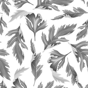 Falling Fern Gray and White Removable 5' x 20