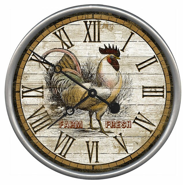 Rooster Time Wall Clock