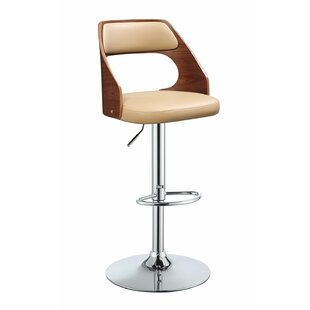 Dinardo Adjustable Height Swivel Bar Stool George Oliver