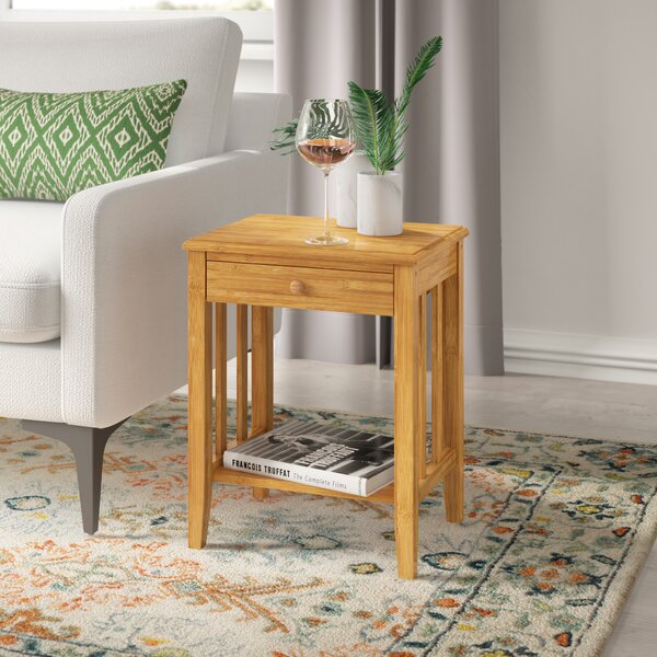 Brambly Cottage Arreola Bamboo Side Table Reviews Wayfair Co Uk