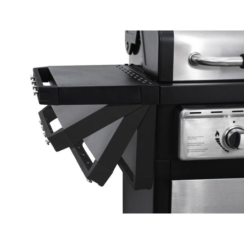 Smart E Living 2 Burner Propane Gas Grill With Side Shelves