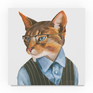 U0027Cattitude IVu0027 Acrylic Painting Print On Wrapped Canvas