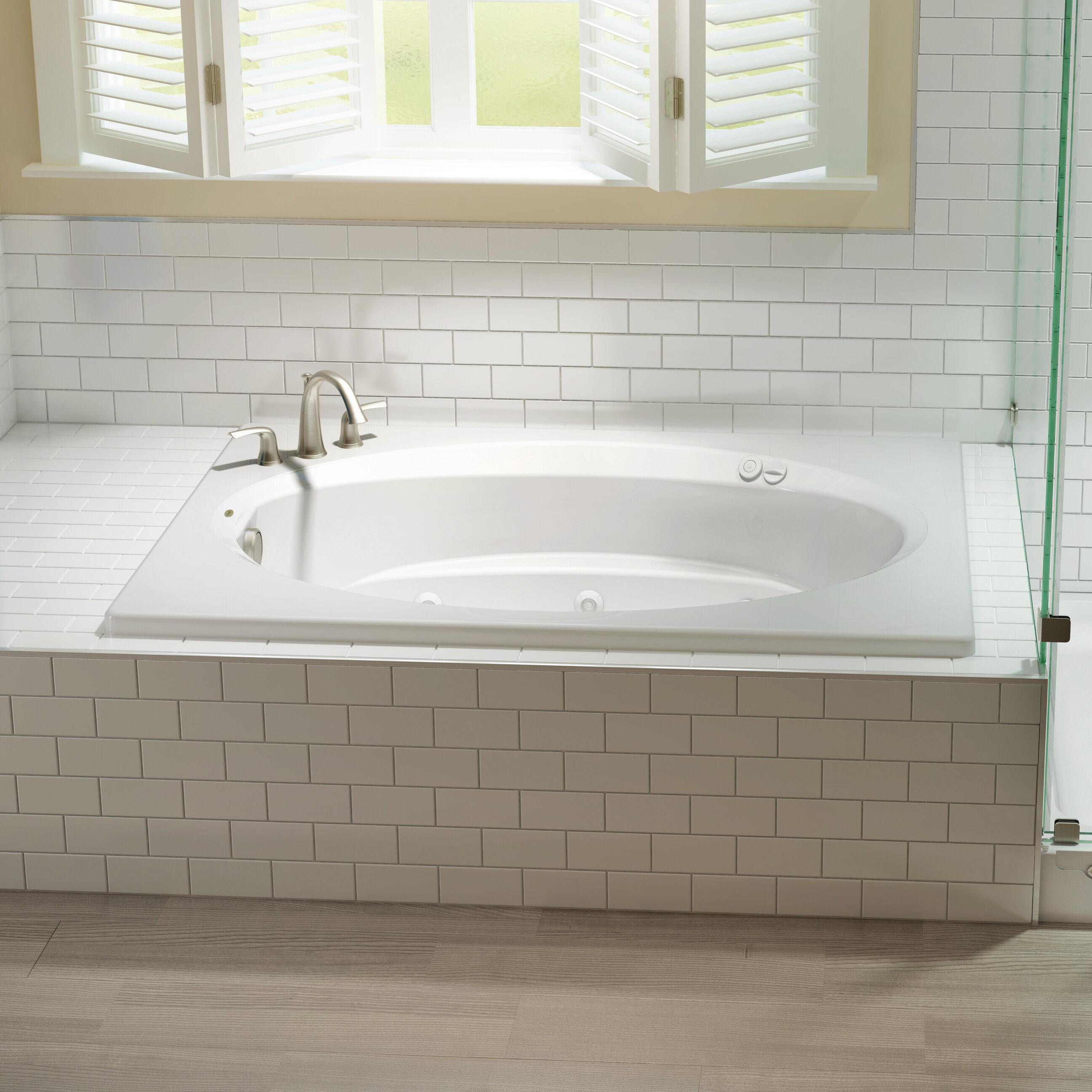 Picture of: Jacuzzi Signature 72 X 42 Drop In Bathtub Wayfair