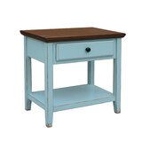 Aahil Deluxe Drawer Shelf End Table by Highland Dunes
