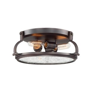 Williston Forge Harley 3-Light Flush Mount
