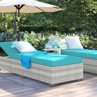 Falmouth Reclining Sun Lounger Set with Cushions and Table by Sol 72 Outdoor