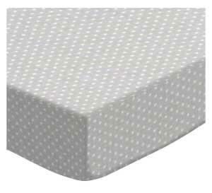 Purchase Pindots Gray Woven Fitted Crib Sheet BySheetworld