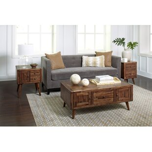 Union Rustic Ashland Modern Living 3 Piece Coffee Table Set