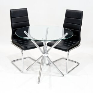 Kathrine Dining Set With 2 Chairs By Metro Lane