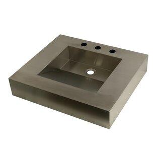 Kingston Brass Stainless Steel Square Drop-In Bathroom Sink