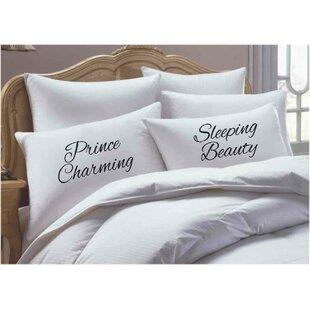2 Piece Prince Charming/ Sleeping Beauty Pillowcase Set