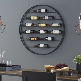 Label View 12 Bottle Wall Mounted Wine Rack by Wine Enthusiast