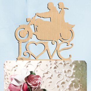 Harley His and Her Love Wooden Cake Topper