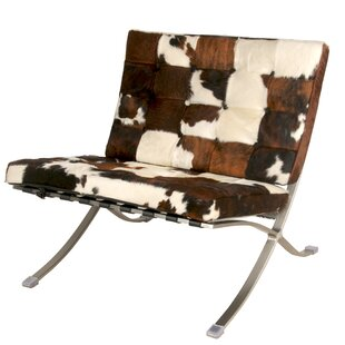 Barca Cowhide Slipper Chair by New Pacific Direct