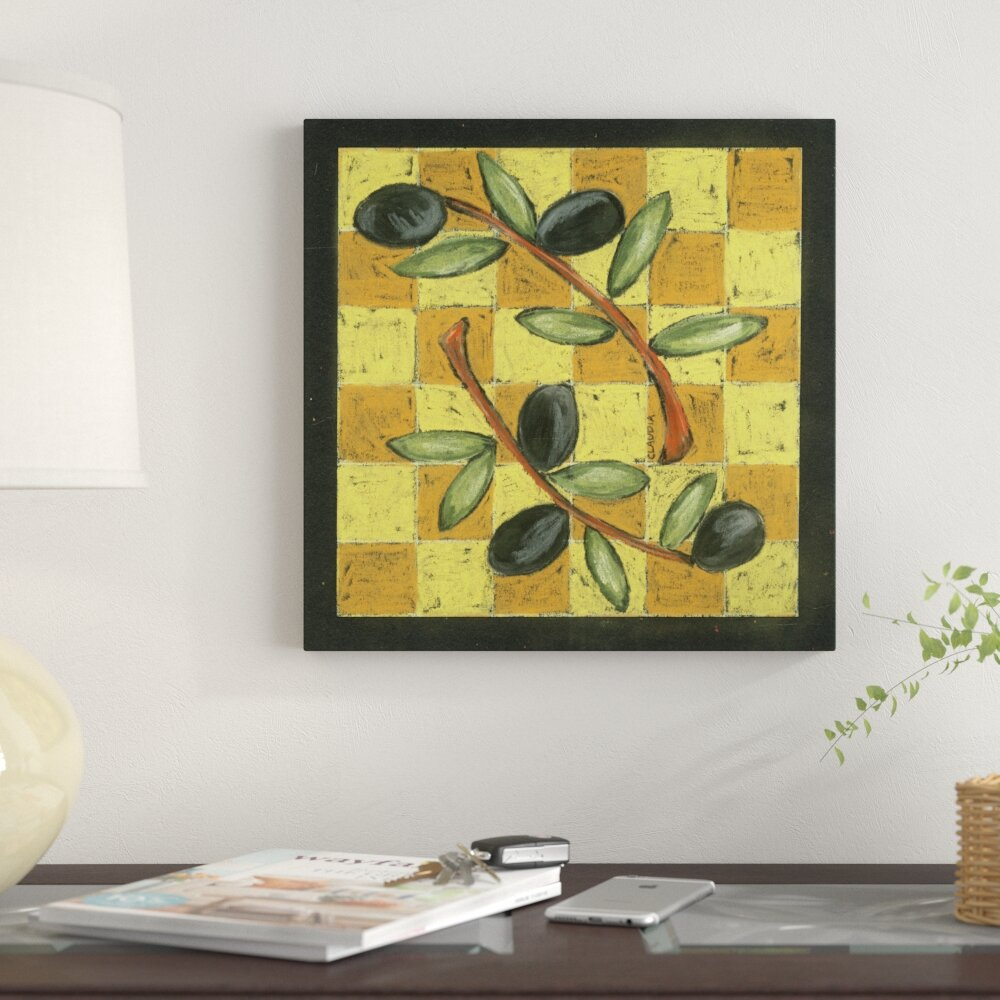 Fleur De Lis Living \'Tuscan Olive Branch\' Acrylic Painting Print on ...