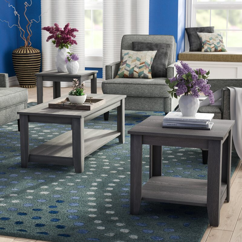 Zipcode Design Bulma 3 Piece Coffee Table Set Reviews Wayfair