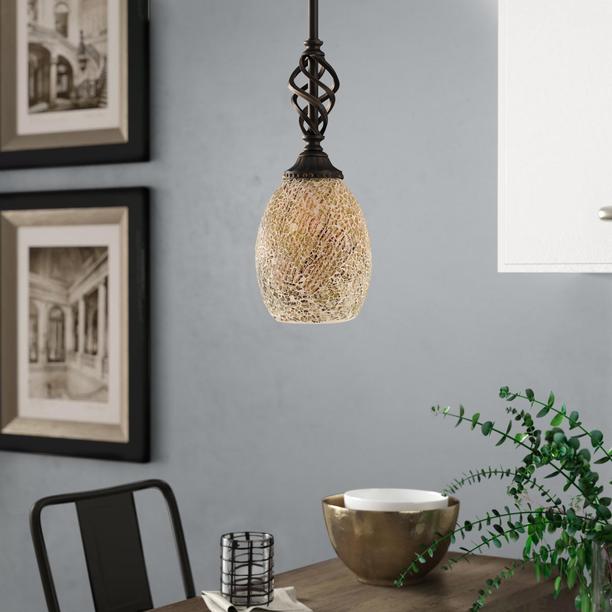 Astoria Grand Pierro 1 Light Single Bell Pendant Reviews Wayfair