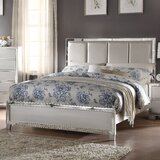 Hester Solid Wood and Upholstered Standard Bed by Rosdorf Park