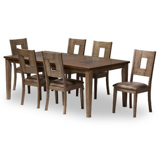 Polak 7 Piece Dining Set Bloomsbury Market