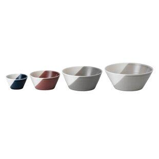 Nesting 4 Piece Porcelain Mixing Bowl Set