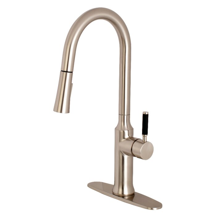 Kaiser Single Handle Pull Down Kitchen Faucet