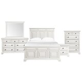 Cheadle Solid Wood 5 Piece Bedroom Set by Darby Home Co