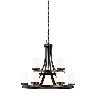 Wrought Studio Gallman 9-Light Shaded Chandelier
