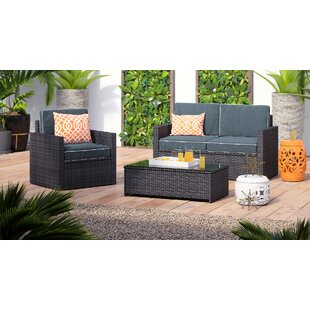 Belton 3 Piece Sofa Set With Cushions by Mercury Row Cool