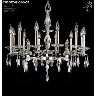 American Brass & Crystal Kaya 12-Light Chandelier
