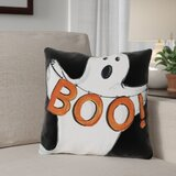 Halloween Ghost Boo Throw Pillow by The Holiday Aisle®