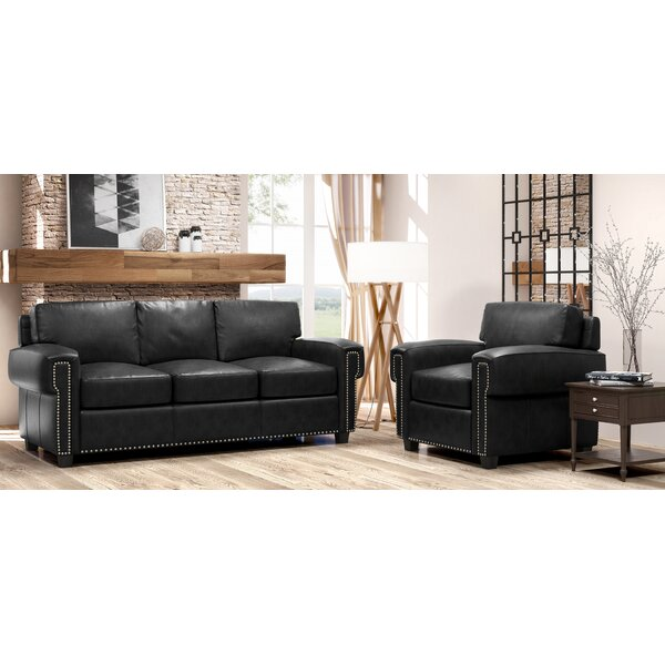Westland And Birch Sioux 2 Piece Leather Living Room Set Wayfair