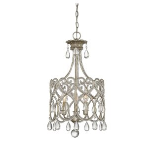 Macey 3-Light Crystal Chandelier by House..
