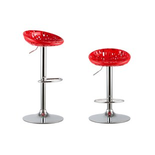 Attraction Design Home Adjustable Height Swivel Bar Stools (Set of 2)