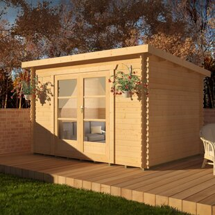 Corbetti 14 X 8 Ft. Tongue And Groove Log Cabin By Tiger Sheds